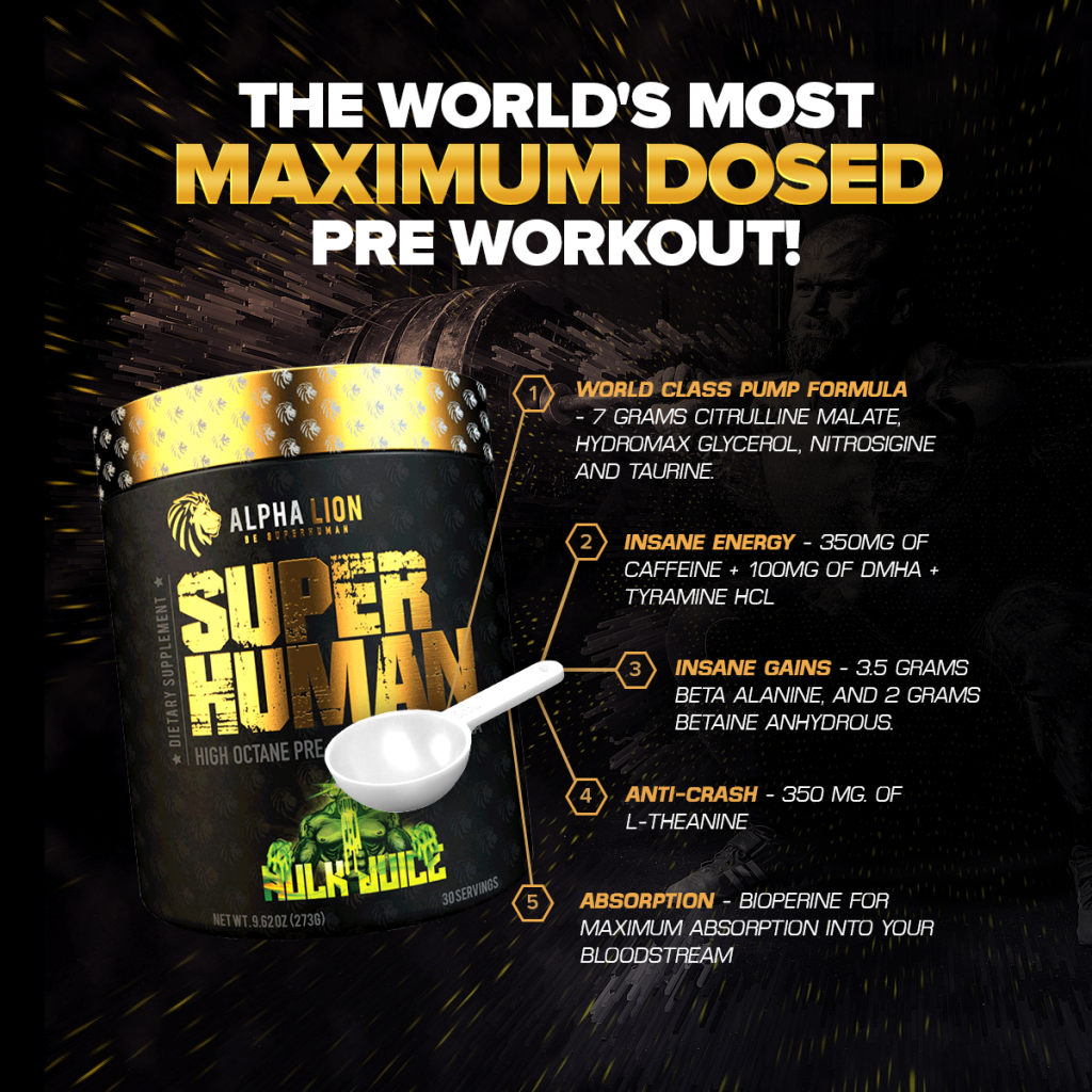 Alpha Lion SuperHuman pre-workout supplement