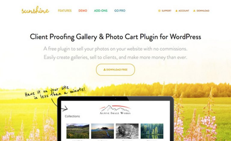 Sunshine Photo Cart Review- A WordPress client proofing gallery plugin