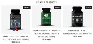 Products of Lucid Dream Leaf