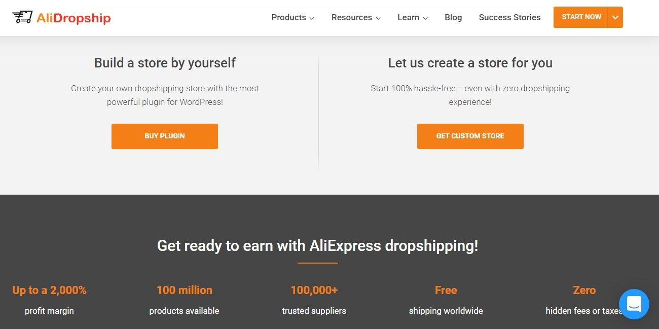 Main features of Alidropship