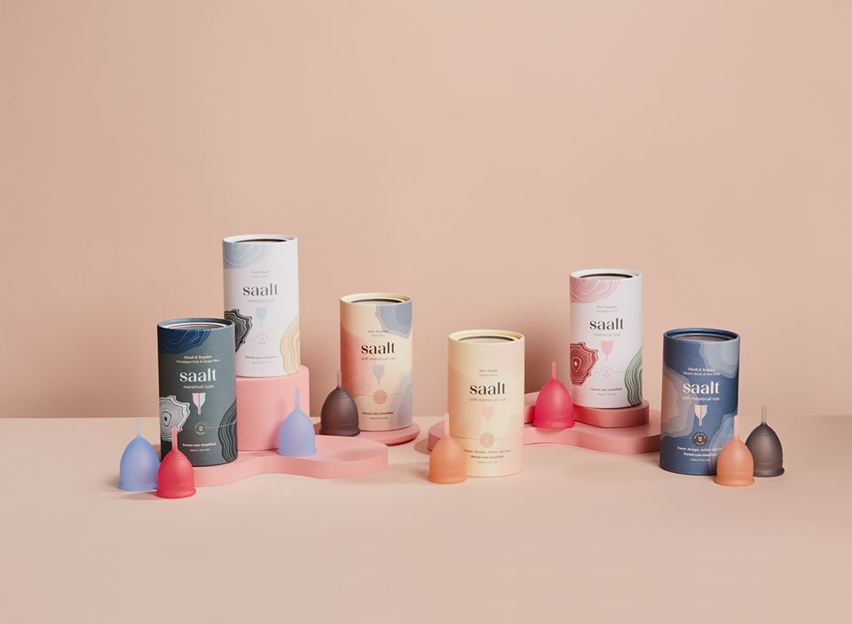 Various sizes of Saalt cups