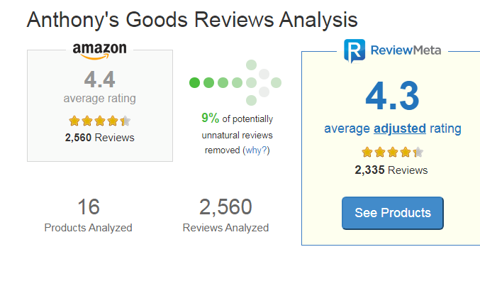 Anthony's Goods review