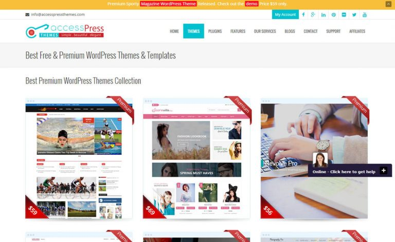 Access beautiful WordPress themes with AccessPress Themes review
