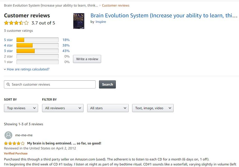 Brainev reviews