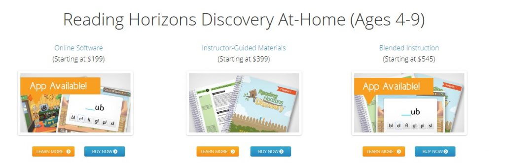 Reading Horizons review - Discovery