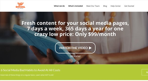 99 Dollar Social review – social media solution for small business