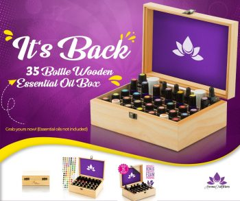 Wooden essential oil box - Aroma Outfitters Diffuser